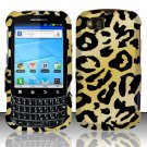 Hard Rubber Feel Design Case for Motorola Admiral XT603 (Sprint) - Cheetah