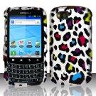 Hard Rubber Feel Design Case for Motorola Admiral XT603 (Sprint) - Colorful Leopard