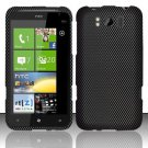 Hard Rubber Feel Design Case for HTC Titan X310e (AT&T) - Carbon Fiber