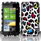 Hard Rubber Feel Design Case for HTC Titan X310e (AT&T) - Colorful Leopard