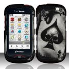 Hard Rubber Feel Design Case for Pantech Hotshot 8992 - Spade Skull
