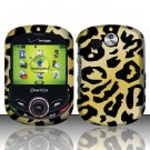 Hard Rubber Feel Design Case for Pantech Jest 2 - Cheetah
