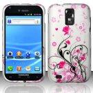 Hard Rubber Feel Design Case for Samsung Hercules/Galaxy S2 - Pink Garden