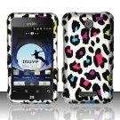 Hard Rubber Feel Design Case for ZTE Score - Colorful Leopard