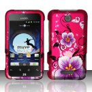 Hard Rubber Feel Design Case for ZTE Score - Hibiscus Flowers