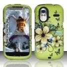 Hard Rubber Feel Design Case for HTC Amaze 4G (T-Mobile) - Hawaiian Flowers