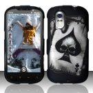 Hard Rubber Feel Design Case for HTC Amaze 4G (T-Mobile) - Spade Skull