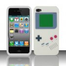 Soft Premium Silicone Case for Apple iPhone 4/4S - White Game Boy