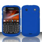 Hard Rubber Feel Plastic Case for Blackberry Bold Touch 9900 - Blue