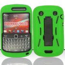 Hard Robot Armor Case for Blackberry Bold Touch 9900 - Green