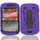 Hard Robot Armor Case for Blackberry Bold Touch 9900 - Purple