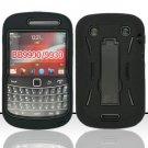 Hard Robot Armor Case for Blackberry Bold Touch 9900 - Black