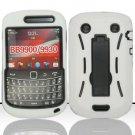 Hard Robot Armor Case for Blackberry Bold Touch 9900 - White
