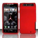 Hard Rubber Feel Plastic Case for Motorola Droid RAZR XT912 (Verizon) - Red