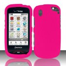 Hard Rubber Feel Plastic Case for Pantech Hotshot 8992 - Rose Pink