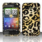 Hard Rubber Feel Design Case for HTC DROID Incredible 2 6350 (Verizon) - Cheetah Design