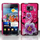Hard Rubber Feel Design Case for Samsung Galaxy S II i777/i9100 (AT&T) - Hibiscus Flowers