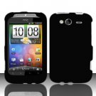 Hard Rubber Feel Plastic Case for HTC Wildfire S - Black