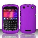 Hard Rubber Feel Plastic Case for Blackberry Curve 9360/9370 - Purple