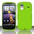 Hard Rubber Feel Plastic Case for HTC Amaze 4G (T-Mobile) - Neon Green