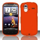 Hard Rubber Feel Plastic Case for HTC Amaze 4G (T-Mobile) - Orange