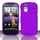 Hard Rubber Feel Plastic Case for HTC Amaze 4G (T-Mobile) - Purple