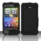 Hard Rubber Feel Plastic Case for HTC DROID Incredible 2 6350 (Verizon) - Black