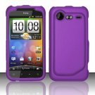 Hard Rubber Feel Plastic Case for HTC DROID Incredible 2 6350 (Verizon) - Purple