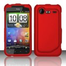 Hard Rubber Feel Plastic Case for HTC DROID Incredible 2 6350 (Verizon) - Red