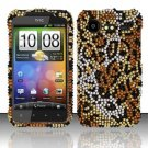 Hard Rhinestone Design Case for HTC DROID Incredible 2 6350 (Verizon) - Cheetah