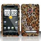 Hard Rhinestone Design Case for HTC EVO 4G - Cheetah
