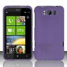 Hard Rubber Feel Plastic Case for HTC Titan X310e (AT&T) - Purple