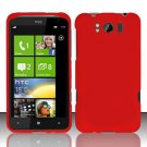 Hard Rubber Feel Plastic Case for HTC Titan X310e (AT&T) - Red