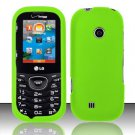 Hard Rubber Feel Plastic Case for LG Cosmos 2 VN251 (Verizon) - Neon Green