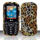 Hard Rhinestone Design Case for LG Cosmos 2 VN251 (Verizon) - Cheetah