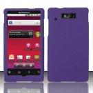 Hard Rubber Feel Plastic Case for Motorola Triumph WX435 (Virgin Mobile) - Purple
