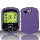 Hard Rubber Feel Plastic Case for Pantech Jest 2 - Purple