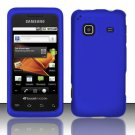 Hard Rubber Feel Plastic Case for Samsung Galaxy Prevail M820 - Blue