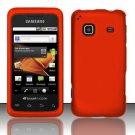 Hard Rubber Feel Plastic Case for Samsung Galaxy Prevail M820 - Orange