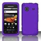 Hard Rubber Feel Plastic Case for Samsung Galaxy Prevail M820 - Purple