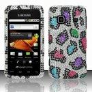Hard Rhinestone Design Case for Samsung Galaxy Prevail M820 - Colorful Leopard