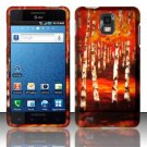 Hard Rubber Feel Design Case for Samsung Infuse 4G - Autumn Forest