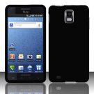 Hard Rubber Feel Plastic Case for Samsung Infuse 4G - Black