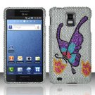 Hard Rhinestone Design Case for Samsung Infuse 4G - Colorful Butterfly