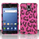 Hard Rhinestone Design Case for Samsung Infuse 4G - Pink Leopard
