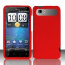 Hard Rubber Feel Plastic Case for HTC Vivid (AT&T) - Red