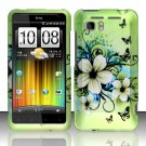 Hard Rubber Feel Design Case for HTC Vivid (AT&T) - Hawaiian Flowers