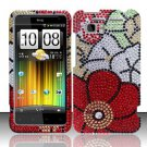 Hard Rhinestone Design Case for HTC Vivid (AT&T) - Fall Flowers