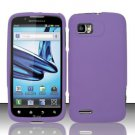 Hard Rubber Feel Plastic Case for Motorola Atrix 2 MB865 (AT&T) - Purple