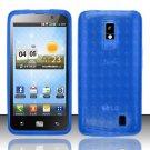 TPU Crystal Gel Case for LG Spectrum/Revolution 2 VS920 - Blue